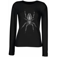 """""""Spider / Spinne"""" Ladies Longsleeve T-Shirt"""