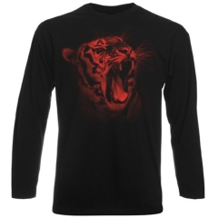 """Tiger"" Longsleeve T-Shirt in Red"