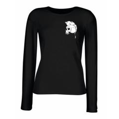 """""""Punk"""" Skull Ladies Longsleeve T-Shirt"""
